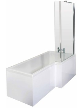 Square 1700 x 850mm Right Hand Acrylic Shower Bath Pack