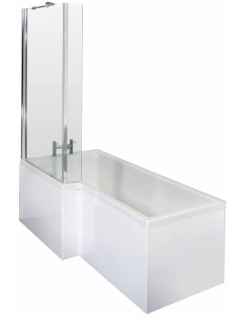 Lauren Square 1700 x 850mm Left Hand Acrylic Shower Bath Pack