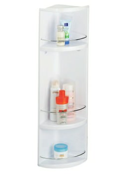 Croydex Essentials Compact 3-Tier ABS Corner Bathroom Storage Unit