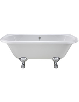 1700 x 745mm Back-To-Wall Freestanding Acrylic Bath With Corbel Legs