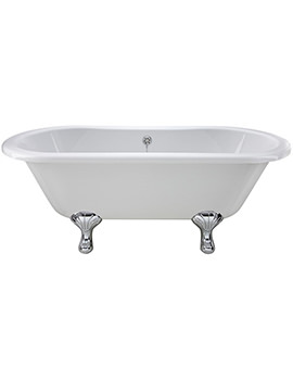 Grosvenor 1500 x 745mm Freestanding Acrylic Bath With Corbel Legs
