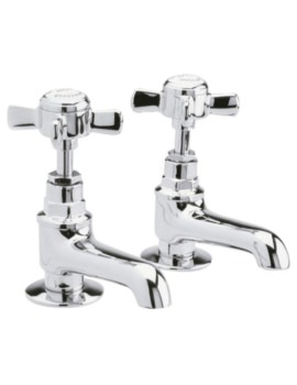 Beo Nobel Pair Of Basin Taps Chrome