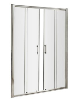 Framed 1600 x 1850mm Double Sliding Shower Door