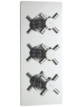 Tec Crosshead Thermostatic Triple Concealed Shower Valve