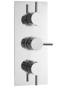 Quest Round Thermostatic Triple Concealed Shower Valve