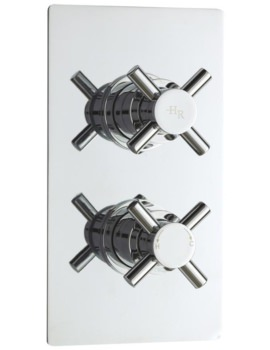 Tec Crosshead Thermostatic Twin Concealed Shower Valve