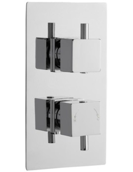Pioneer Square Thermostatic Twin Concealed ABS Shower Valve