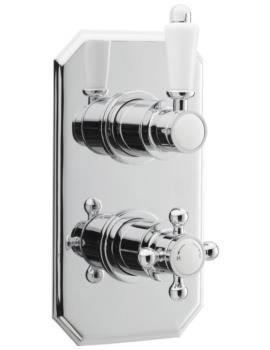 Victorian Thermostatic Twin Concealed Shower Valve