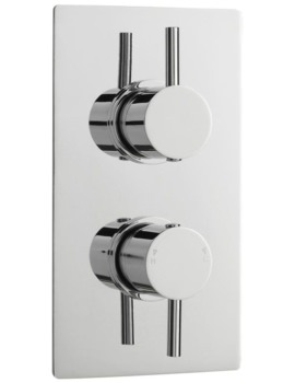 Lauren Pioneer Round Thermostatic Twin Concealed Brass Valve With Diverter