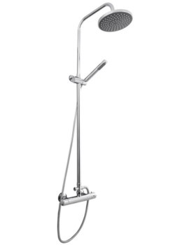 Round Thermostatic Bar Valve With Telescopic Kit And Pencil Handset
