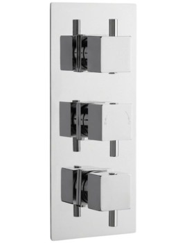 Volt Square Thermostatic Triple Concealed Shower Valve