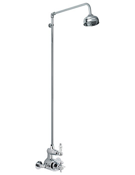 Traditional Thermostatic Twin Shower Valve And Rigid Riser Kit