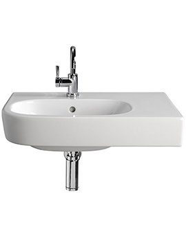 Quinta 800mm 1TH Washbasin With Right Hand Shelf Space - EX-DISPLAY