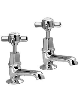 Manhattan Pair Of Bath Pillar Taps - EX-DISPLAY