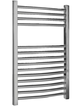 500 x 700mm Chrome Curved Heated Towel Rail