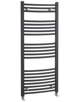 500 x 1150mm Anthracite Curved Heated Towel Rail