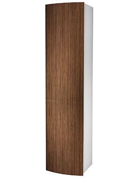 Moda 382 x 370 x 1600mm Teak Tall Furniture Unit - EX-DISPLAY