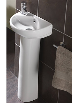 Refresh 360 x 280mm 1 Left Hand Tap Hole Basin - EX-DISPLAY