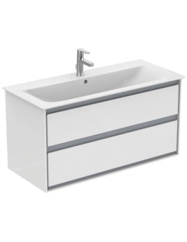 Concept Air 1000mm Wall Hung 2 Drawers Gloss White Vanity Unit