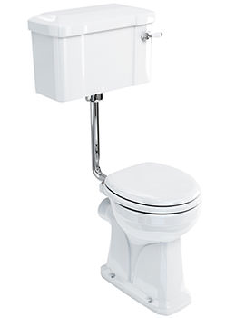 Regal Low Level WC Pan With Lever Cistern And Flush Pipe Kit