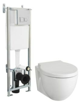 Unity Wall Hung WC With Cistern And Soft Close Seat