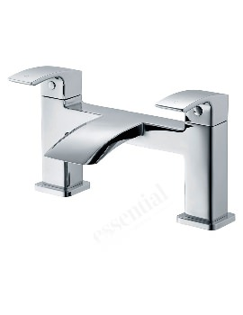 Crest Deck Mounted Bath Filler Tap Chrome