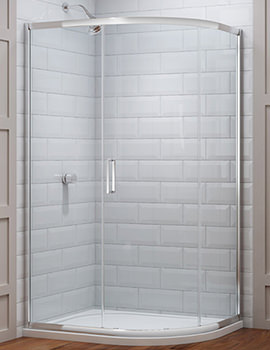 Merlyn 8 Series 1 Door Offset Shower Quadrant 1400 x 800mm
