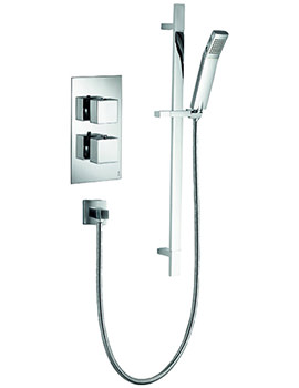 Pura Bloque2 Single Outlet Concealed Thermostatic Valve With Shower Kit
