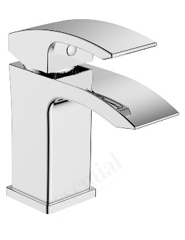 Essential Crest Basin Mixer Tap With Push Top Waste