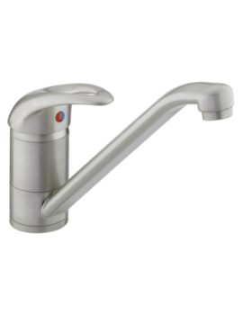 Java Easyfit Single Flow Kitchen Sink Mixer Tap White