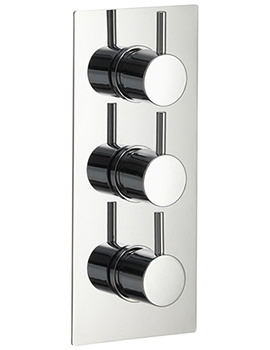 Arco Twin Outlet Triple Control Concealed Thermostatic Shower Valve