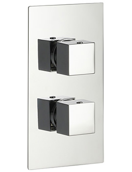 Pura Bloque2 Single Outlet Dual Control Concealed Thermostatic Shower Valve