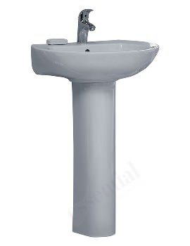 Ocean 560mm 1 Tap Hole Basin And Full Pedestal