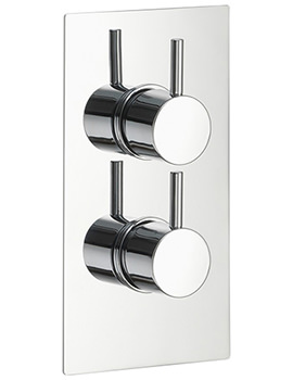 Arco Twin Outlet Dual Control Concealed Thermostatic Shower Valve