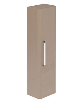 Essential Vermont 350mm 1 Door Wall Hung Column Unit Light Grey