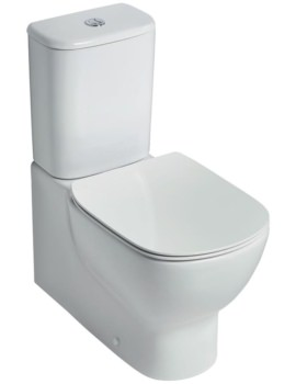 Tesi Aquablade Close Coupled Back-To-Wall WC Pan 665mm