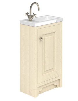 Essential Hampshire 1 Door 400mm Vanity Unit And Basin Mussel Ash