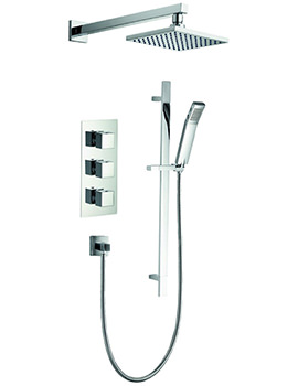 Bloque2 Triple Thermostatic Valve With Head And Slide Rail Kit