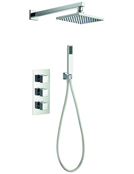 Bloque2 Triple Thermostatic Valve With Head And Handset Kit