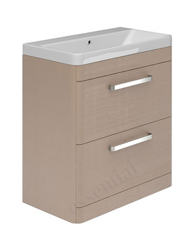 Essential Vermont 2 Drawer Light Grey Vanity Unit And Basin 800mm