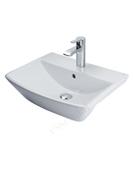 Jasmine 500mm Semi Recessed Basin With 1 Tap Hole