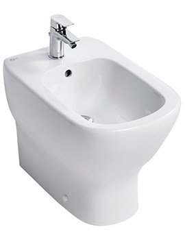 Tesi 1 Tap Hole Back-To-Wall Bidet 550mm
