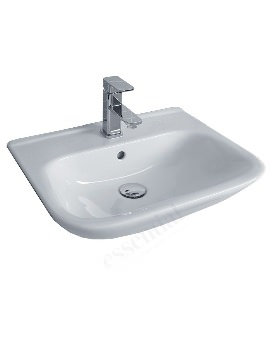 Essential Violet 520mm Semi-Recessed Basin With 1 Tap Hole