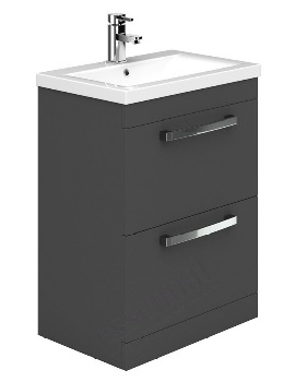 Essential Nevada Grey 600mm 2 Drawers Vanity Unit And Basin