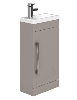 Essential Nevada 400mm Single Door Vanity Unit And Basin - Cashmere