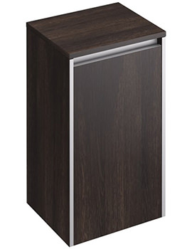 Xcite 350 x 300mm Dark Oak Single Door Side Storage Unit