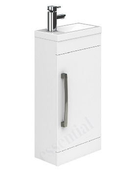 Essential Nevada 400mm Single Door Vanity Unit And Basin - White