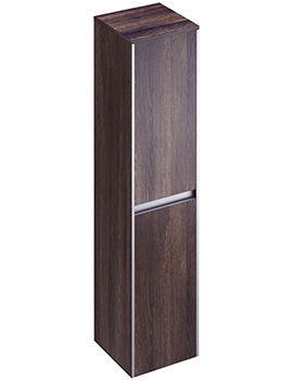Xcite 350 x 1500mm Dark Oak Double Door Tall Storage Unit