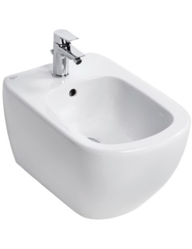 Ideal Standard Tesi 1 Tap Hole Wall Hung Bidet 530mm