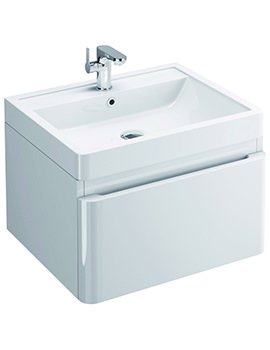 Flite 600mm Wall Hung Single Drawer Unit And Basin